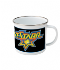 Galactic Marshall BraveStarr Badge Enamel Camp Mug 10oz